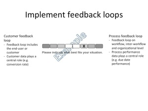 Implement feedback loops signifier